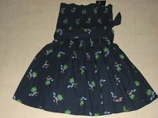 Hollister By Abercrombi Womens Navy Printed Strapless Sun Dress XS/S/M/L-NWT $50