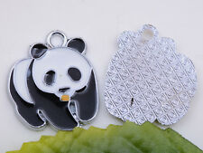 Wholesale 1pcs/5pcs Metal Alloy lovely Panda Charms Pendant 25x21mm #A5483