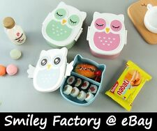 New Cute Owl Lunch Box Bento Snack Box OKAY with Microwave Food Grade Safe