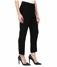 NEW NYDJ Not Your Daughters Jeans pants NIKOLA crepe black ankle Trousers 4P