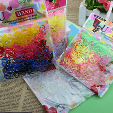 400-500 Pcs Elastic Hair Band Ponytail Holder Rubber Rope For Kids Girls ES