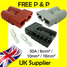 Anderson Style Plug SB 50 AMP Battery Connector Slave Jump GREY, RED, BLACK 50A