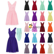 Stock Short Formal Bridesmaid Dresses Evening Party Prom Cocktail Ball Gown 6-18