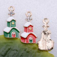 free ship 2pcs/5pcs alloy beautiful Christmas House Charm Pendant 22x12mm#A5471