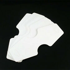 White Paper Jewelry Display Cards No Printed For Necklace Pendant Chain 125x50mm