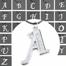 New Charm Crystal Stainless Steel A-Z Letter Initial Alphabet Pendant Necklace A