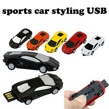 sports car style 4gb 8g 16g 32g bulk metal car usb flash drive pendrive gift Lot