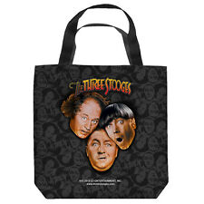 THE THREE STOOGES STOOGES ALL OVER FRONT/BACK PRINT TOTE BAG