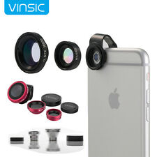 Vinsic Detachable 3in1 Fish Eye+Wide Angle+Macro Lens Camera Kit For iPhone 6 6S