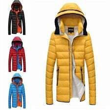 Handsome Winter Young Men's Coat Trench Jacket Warm Hooded Outwear Down Padded