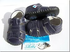 Boys Navy Leather Pre walker sandals for baby's,Toddler for age 6 -18months