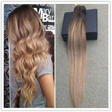 2016 Balayage Color High Quality Clip Ins Extensions 100% Real Human Hair Brown