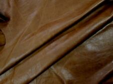 Tobacco cowhide for leathercraft Small pieces. Barkers Hide & Leather Skins N274