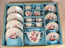17 Piece Vintage Toy China Tea Set No 2616, Butterfly & Roses Design