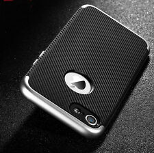 For iPhone 6 6s 7 Plus Luxury Hybrid Carbon Fiber Skin Rubber Hard Case Cover