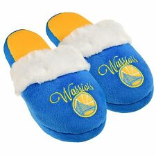 Golden State Warriors Womens Colorblock Fur Slide Slippers NBA New Style