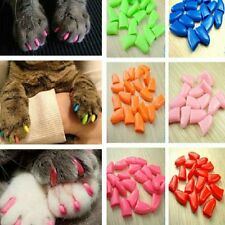 20Pcs New Soft Rubber Pet Dog Cat Puppy Paw Claw Control Nail Caps Cover