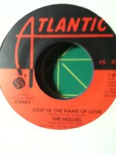 The Hollies, Stop in the Name of Love ~ NM 1983 Atlantic 45