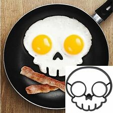 Silicone Side Up Skull Egg Fried  Mould Funny Breakfast Pancake Mold Ring SY
