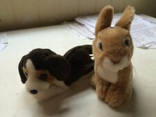 Sitting Rabbit & puppy soft toys Living Nature Babies plush cuddly dog