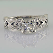 EGL Certified Diamond Bridal Ring 1.75 Carat Princess Cut & Round Cut