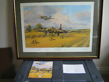 robert taylor,sign Aviation prints,Out of fuel and safely home,
