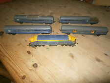 TRIANG OO GAUGE TRANSCONTINENTAL RAILWAY LOCO  & 4 COACHES