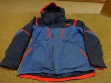 THE NORTH FACE JACKET HYVENT WINDBREAKER HOODIE SZ M MEN HIKING SPORT BLUE