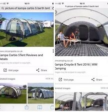 Kampa Carbis 5 Berth Tent. Used Once