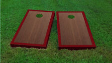 Premium Maroon Border Rosewood Stained Cornhole Board Game Set
