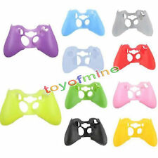 Wireless Controller Fr XBOX 360 Silicone Rubber Protective Skin Shell Case Cover