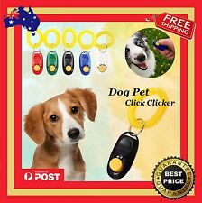 Dog Pet Training Clicker Obedience Agility Trainer Aid with Wrist Strap