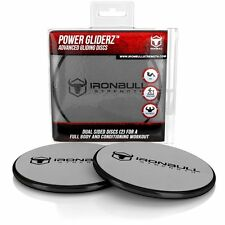Gliding Discs (1 Pair Core Sliders) - Full Body Workout Video Included - Dual Si