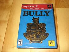 Bully (Sony PlayStation 2, 2006) greatest hits ps2 poster and manual included