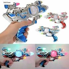 Super Toys Space Laser With Sound Plastic Children Kids Spinning Multi-Colors