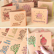 Kraft Paper Greeting Card Blessing Greeting Message Christmas Birthday Card zz