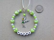 Personalised Name Tinkerbell inspired charm Handmade Christmas Tree Decoration