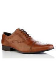 REDTAPE Slade Tan mens Leather brogues Lace Up Formal Shoes