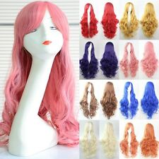Mixed Colors 60CM Long Curly Lolita Style Heat Resistant Cosplay Wig Halloween