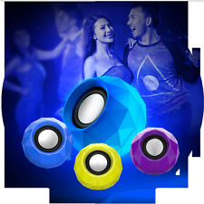 LED Shinning USB2.0 Portable Speakers MP3 Player With 3.5mm Jack For Outdoor