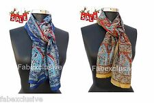 Silk stole 2 Pes set 100% Pure Silk Handprinted Scarf Wrap Scarve best for gift