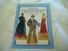 1987 Original Famous American Women Paper Dolls in Full Color Tom Tierney
