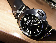 44mm Parnis Handwind PVD black dial green mark with super grade strap MM648