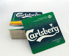 40 Carlsberg Pub Beer Mats| Beer Coasters| Home Bar Breweriana| Gift| Collection