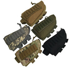 Tactical Rifle Shotgun Buttstock Cheek Rest Ammo Shell Nylon Mag Pouch hunting