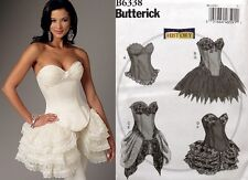 Butterick B6338 Misses Victorian Corsets Skirts Costume Sewing Pattern SIZE 6-22
