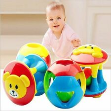1 set Baby Cute Hand Shake Bells Kids Toy Grasp Training Catch Bear Rattle Music