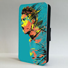 Ronaldo Art Real Madrid LEATHER FLIP PHONE CASE COVER fits IPHONE & SAMSUNG