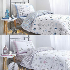 Childrens NORDIC Winter Scene 100% Cotton Duvet Cover Set or Fitted Sheet