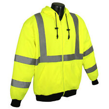 Radians SJ01-3 Hi Vis Class 3 Hooded SweatShirt...Lime Gree...ANSI